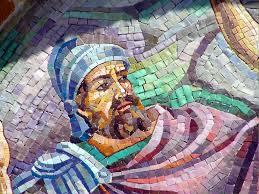 roman soldier head mosaic lg the blood of jesus