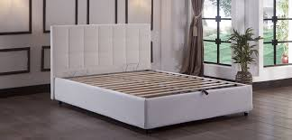 manila platform bed w headboard queen size escudo white by sunset