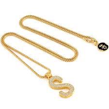 s necklace 14k gold letter s necklace gold initial pendant necklaces