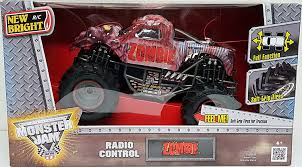 monster jam rc truck bodies amazon com new bright rc zombie 1 15 radio control monster jam