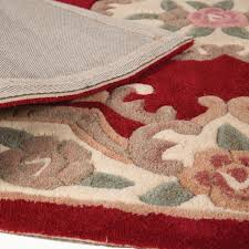 Circular Wool Rugs Uk 120cm Round Wool Chinese Handcrafted Aubusson Rugs In Red