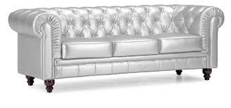 Sofa Chairs Designs Sofa Engaging White Tufted Leather Sofa Furniture Silver Color 3