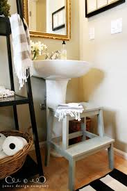 step stool for bathroom sink steppin up guest bath ikea paint and stools