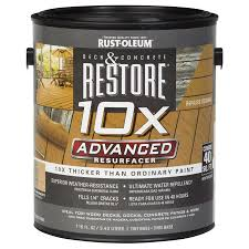 shop rust oleum restore tintable resurfacer actual net contents