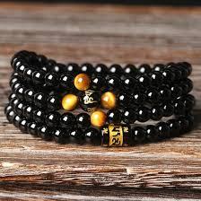 black prayer bracelet images Brazil black agate with tiger eye prayer bracelet healinstones jpg