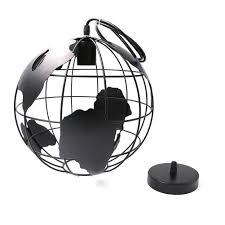 World Globe Light Fixture by Black White Globe Earth Shade Iron Pendant Lamp Hanging Light For