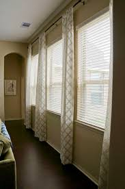 Window Treatments For Small Basement Windows Triple Window Treatment Ideas Living Room Pinterest Window