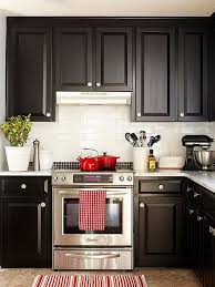 attractive black and red kitchen decor and kitchen coool red and