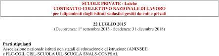 contratto nazionale estetiste 2015 scuole private laiche contratto collettivo nazionale di lavoro per