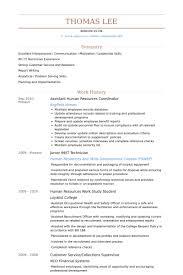 Sample Resume For Hr Assistant Hr Assistant Resume Sle 28 Images Hr Resume Format Template 7