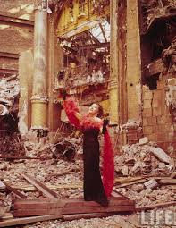 i love this picture of gloria swanson in the ruins of the roxy