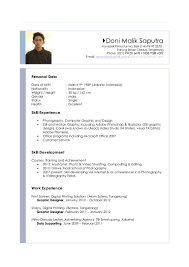 Resume In English Sample by English Cv