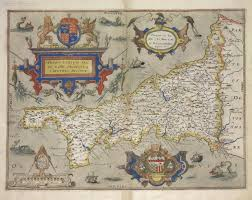 Cornwall England Map by Map Of Cornwall 1579 Maps U0026 Cartographic Material Pinterest