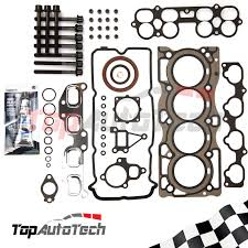 vrs head gasket set head bolts silicone for nissan x trail xtrail