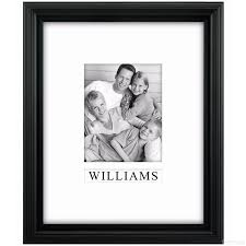 black portrait personalized matted 11x14 8x10 stepped frame by