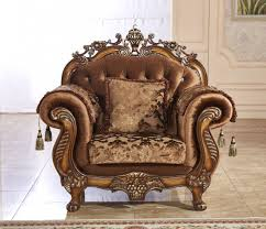 Wooden Carving Furniture Sofa 692 Sofa In Fabric W Optional Items