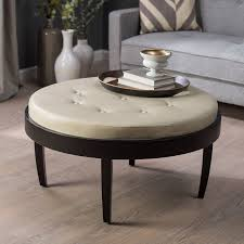 coffee table awesome light brown leather ottoman coffee table