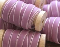 velvet ribbon by the yard purple velvet ribbon etsy