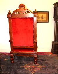 King And Queen Throne Chairs Giant Winged Angel Throne Arm Chair With Red Velvet Fabric For