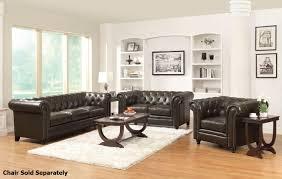 Coaster Leather Sofa Roy Brown Leather Sofa And Loveseat Set A Sofa Furniture