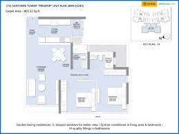 2bhk Plan by L U0026t Emerald Isle Powai In Mumbai Plans Location Price