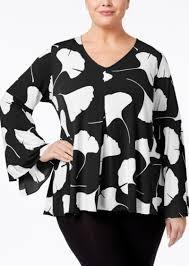 alfani blouses alfani alfani plus size printed bell sleeve top only at macy s