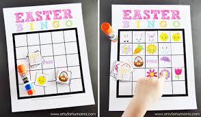 free printable easter bingo artsy fartsy