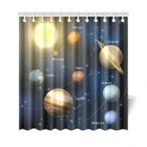 Outer Space Curtains Shower Curtains Interestprint