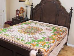 Daybed Linens Floral Print Flat Sheet Cotton India Daybed Bedding Ethnic Linens