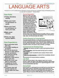 editable language arts syllabus work ideas pinterest art