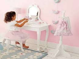 Simple Vanity Table Furniture Girls Vanity Table With Mirror Interior Decoration