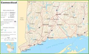 State Capitol Map by Connecticut Highway Map
