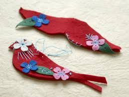 felt bird ornaments hgtv