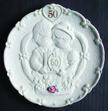 anniversary plates 50th anniversary precious moments precious moments anniversary plate at