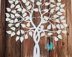 tree signing for wedding custom wedding guest book alternative vintage wedding tree