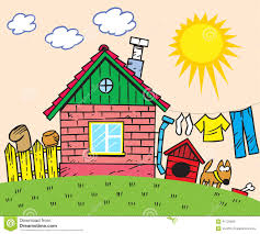 small rustic home plans cartoon house stock vector image 41725682