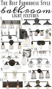 Vintage Style Vanity Lighting Best 25 Farmhouse Style Bathrooms Ideas On Pinterest Bathroom