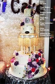 wedding cake jakarta harga wedding cake 5 tiers pelangi cake bridestory