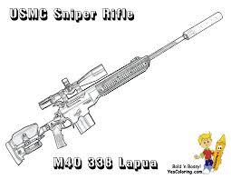 Marine Corps M40 338 Sniper Rifle Coloring Page  Guns n Crayons