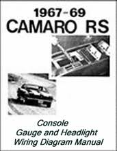 69 camaro rs headlight and console wiring diagram