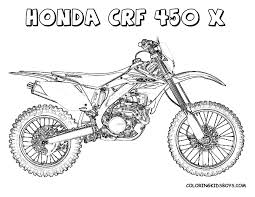 dirtbike coloring pages honda dirt bike coloring page free