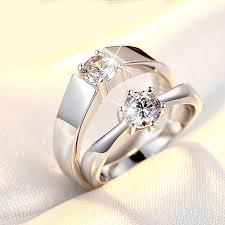 korean wedding rings korean style rings open zircon ring men and