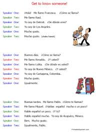 beginning conversations handouts u2013 printable spanish