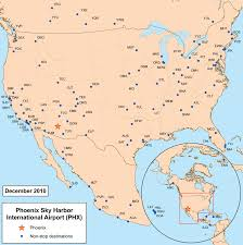 Phoenix Airport Gate Map by Phoenix Sky Harbor International Airport