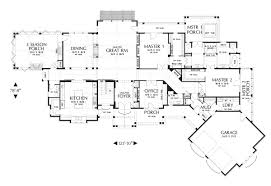 Double Car Garage by The Hendrick Ranch House Plan Is Huge Over 5200 Sq Ft With 5br