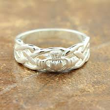 claddagh rings claddagh ring mens silver claddagh with celtic rope band