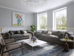 living room neutral living room features large abstract wall art