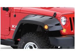 jeep matte red bushwacker max coverage pocket style fender flares oe matte