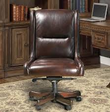 brown leather armless desk chair brown genuine leather armless desk chair traditional office furniture
