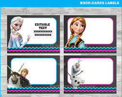 frozen labels etsy